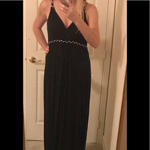 Navy Maternity Maxi Dress